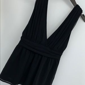 Lulu's Deep Plunge Front and Back Top. Sz. S